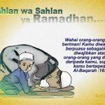 Menyambut Kedatangan Bulan Ramadhan